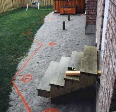 deck layout and footing position spacing diy deck plans
