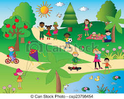 stock illustrations of in the park illustration of happy