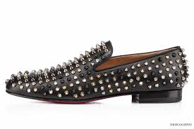 christian louboutin mixed spikes rollerboy leather flats u2013 second