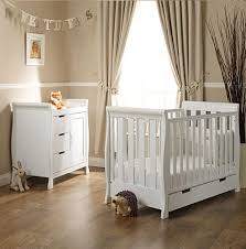 Obaby Crib Mattress Obaby Lincoln 2 Mini Cot Bed Changing Unit Sprung Mattress