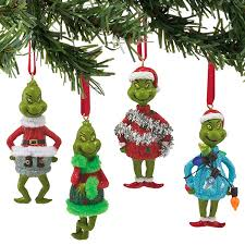 grinch sweater ornaments set of 4 department 56 corner
