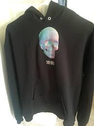 w2c kanji vaporwave skull hoodie brand name streetwear