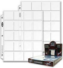 photo album sheets bcw 20 pocket album pages 100 for 2x2 coin flips 3 ring binder