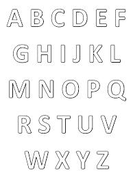Alphabet gratuit  Coloriages alphabet et lettres