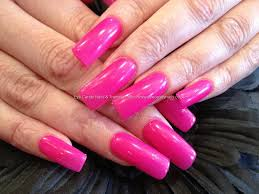 all pink acrylic nails how you can do it at home pictures