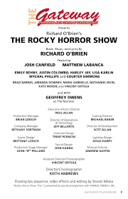 Casting Assistant Rocky Horror Playbill