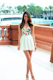 stalk my style floral bustier u0026 white lace mini fashion hotbox
