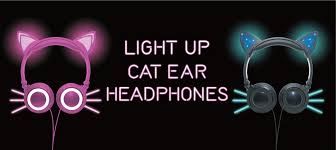 light up cat headphones gabba goods top quality tech accessories bluetooth headphones