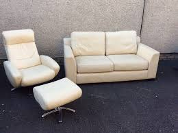 natzzui italian real leather sofa and recliner chair foot stool