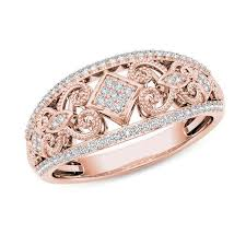rose style rings images 1 5 ct t w composite diamond vintage style tilted square jpg
