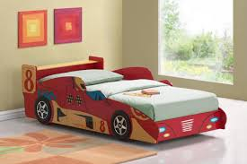 bedroom elegant race car themed feature wall boys room design