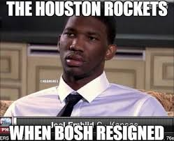 Chris Bosh Memes - nba memes on twitter how the houston rockets reacted when chris