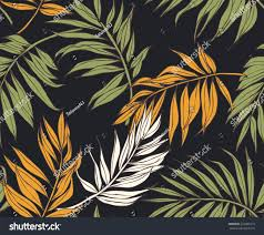 seamless tropical leaves vector patterns stock vector 222085279