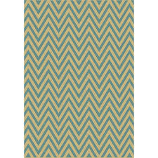 Lowes Outdoor Rug Shop Balta Kesswood Blue Chevron Sand And Oasis Blue Rectangular