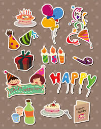 birthday stickers birthday stickers stock vector illustration of cakes 24242499
