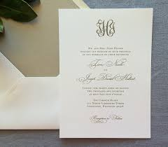 wedding invitations and gold sle classic monogram wedding invitation with gold ink