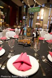 New York Themed Centerpieces by 50s Manhattan Guys And Dolls Centerpieces These Are Very Cool