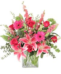 florist nashville tn pink explosion vase arrangement in nashville tn bloom flowers