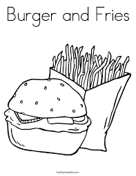 hamburger coloring pages getcoloringpages