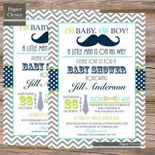best collection of mustache and bow tie baby shower invitations