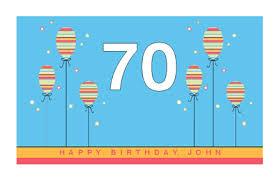 70th birthday greeting card 70th birthday printable card