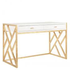 Chinese Desk Chelsea White Lacquer U0026 Gold Desk