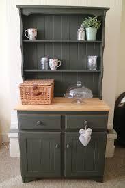 dark green elegant shabby chic pine welsh dresser distressed