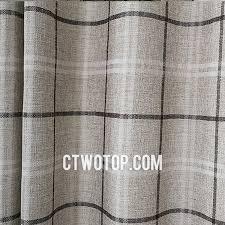 Grey Plaid Curtains Contemporary Plaid Simple Gray Burlap Curtains Bazaraurorita Best