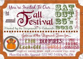 fall festival custom printable invitation by sparepartsboutique on