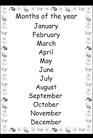 8 best images of free printable preschool worksheets months of the