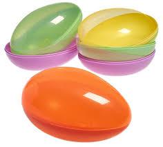 jumbo plastic easter eggs prextex jumbo plastic easter egg containers in