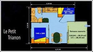 le petit trianon floor plans chalet eco trianon camping fecamp hire of mobile homes 3 star