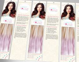 hair candy extensions hair extension packaging design for beauty works candy colours