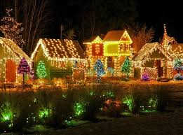 beautiful lighted houses other abstract background wallpapers