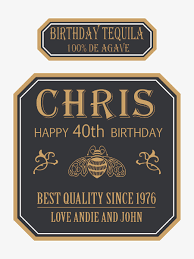 birthday tequila personalized liquor labels ideas