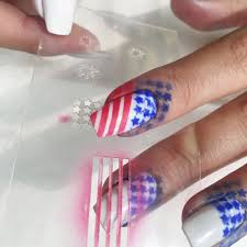 festive airbrushed nails for 4th of july dinair airbrush makeup blog