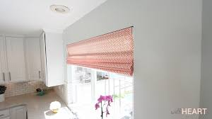 Roman Shades Over Wood Blinds Diy Roman Shades From Blinds Withheart Youtube