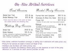 make up prices for wedding bridal hair and makeup salon in plymouth mi bliss republic salon