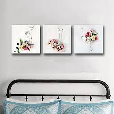 Gardinia Home Decor Amazon Com Gardenia Animals With Flowers Canvas Prints Wall Art