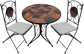 Mosaic Bistro Table Set Furniture Marbella Mosaic Bistro Table And Marbella Bistro Chairs