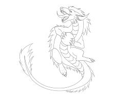 cute dragon lineart by xblackfangx on deviantart