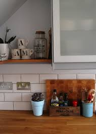 Ikea Kitchen Shelves by New Open Wood Shelves Added To The Kitchen