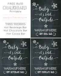 free chocolate bar printable beverage stations chalkboard