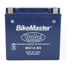 bikemaster trugel 12 volt battery mg14 bs atv dirt bike