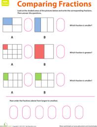 fraction practice comparing fractions worksheet education com
