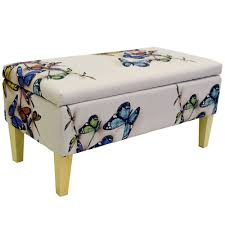 storage ottoman bench stool seat blanket box vintage trunk bedroom