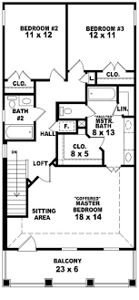 traditional 2 story house plans 653584 2 story traditional plan for a narrow lot house