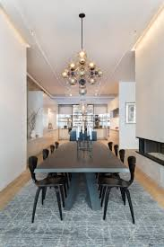 the minimalist open floor plan of williams is seen here as the