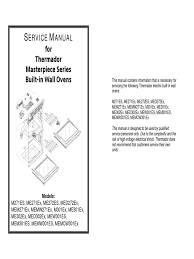 service manual for thermador masterpiece series built in wall