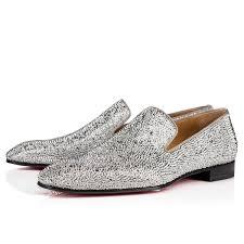 dandelion strass flat version silver strass men shoes